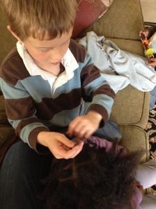 The Third helping with Joyful's hair