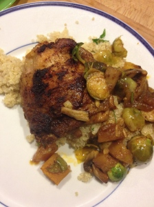 Spiced Berbere Chicken, Vegetables and Quinoa