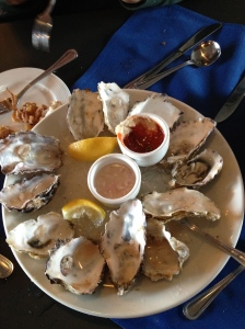 The kids were the ones to suggest trying raw oysters, so we did!