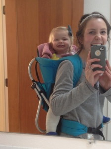 On the days I clean with kids, one is usually strapped to me!