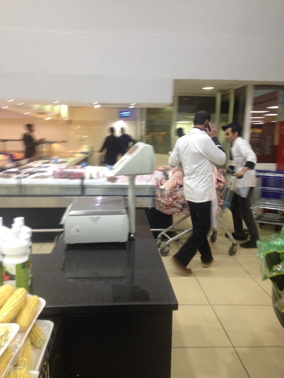 Butchers Bringing in Fresh Meat