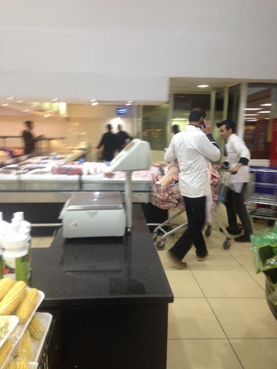 Butchers Bringing in Fresh Meat