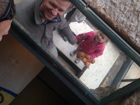 Above entryway mirror