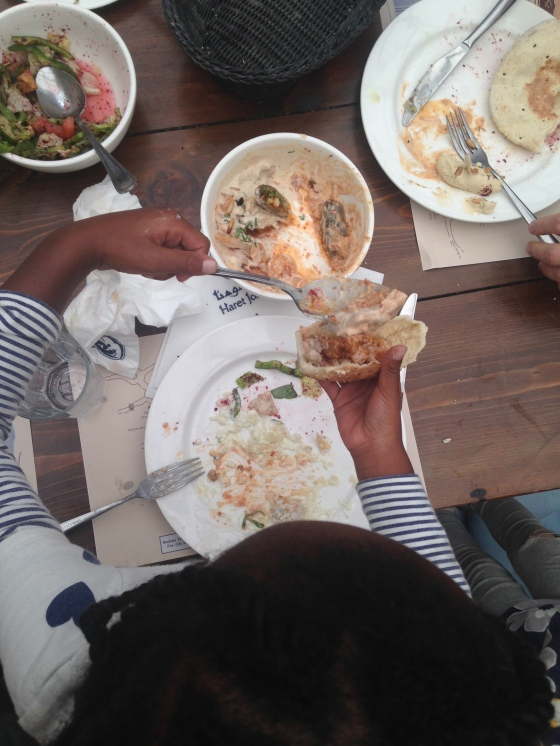Joyfull loving the food!
