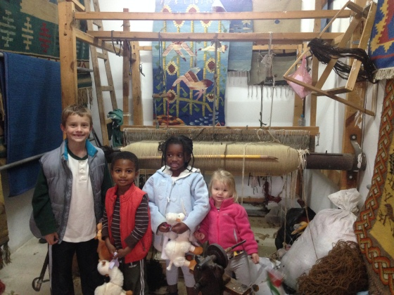 "The kids ""thrilled"" with seeing the loom."