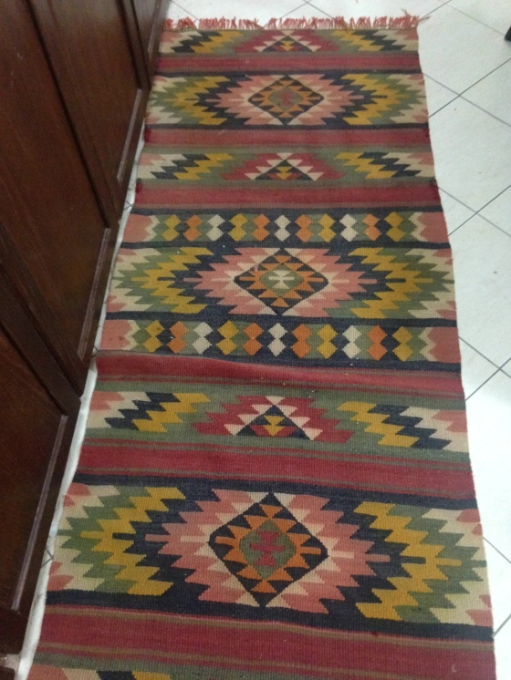 My long lovely kitchen rug